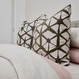 European Cushion Cover | Pillow Case | Textured Kyoko Garden | By Martini Furniture
