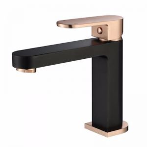 Eva Mini Basin Mixer Matt Black and Flemish Copper