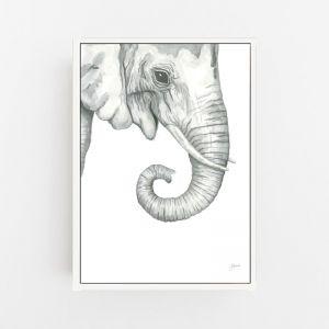 Eva the Elephant by Pick a Pear | Canvas Wall Art