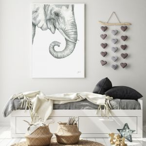 Eva the Elephant Wall Art Print by Pick a Pear | Unframed