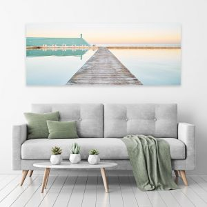 Evening Swim | Canvas Print by Scott Leggo