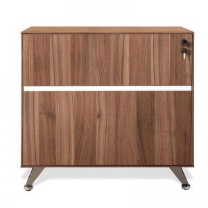 Excel 2 Drawer Lateral Wooden Filing Cabinet | Walnut