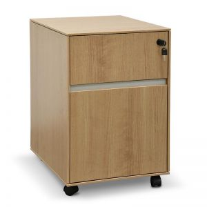 Excel 2 Drawer Mobile Pedestal | Natural | Interior Secrets