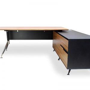 Excel Executive Office Desk with Right Return | Zebra Oak