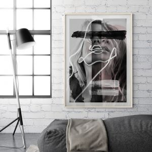 Exhale | Mixed Media Line Art Print | Framed or Unframed
