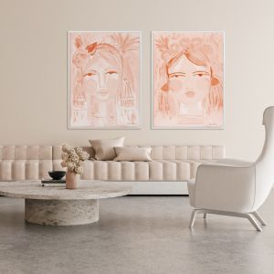 Expressive Peach | Canvas Art Print