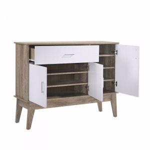 Extra Large Shoe Cabinet | Oak