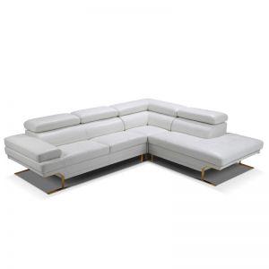 Fabriano Corner Leather Sofa | White
