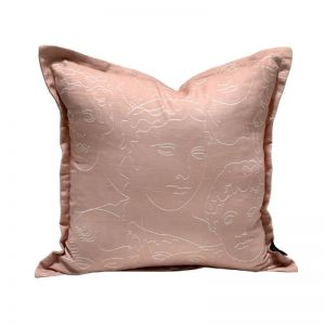 Faces Cushion | Nude