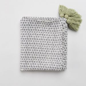 Facet Throw/Table Cloth in Navy or Matcha   by Capra Designs