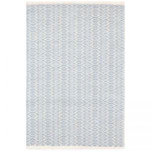 Fair Isle French Blue/Ivory | Cotton Woven Rug 182 x 274cm
