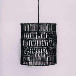 Fairhaven Rattan Pendant | Black