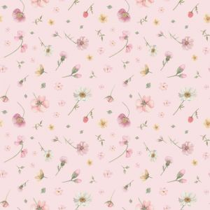 Falling Flowers Pink Wallpaper