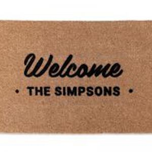 Family Welcome Doormat | Customised