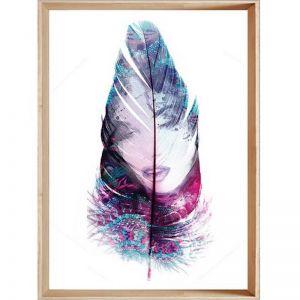 Fantasy Dreaming in Plum | Framed Print