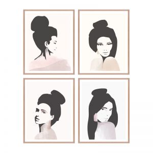 Fashion Icons | Framed Print Set | ArteFocus