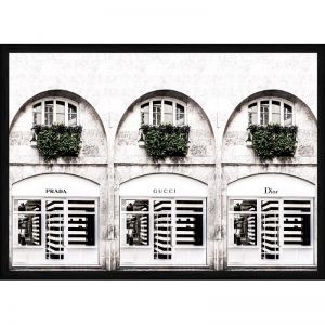 Fashion Stores | Framed Art Print