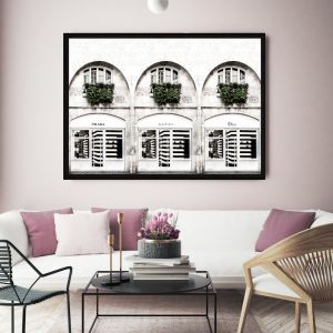 Fashion Stores | Framed Canvas Print