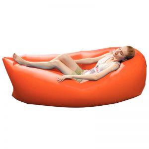 Fast Inflatable Sleeping Bag Lazy Air Sofa Orange