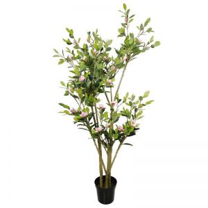 Faux Flowering Pink Magnolia Tree with Pot | 250cm