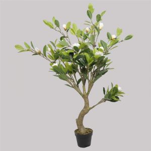 Faux White Flowering Magnolia Tree with Pot | 130cm