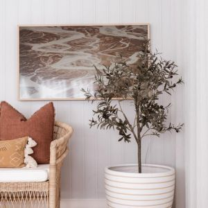 Faux Wooden Panel Ultra Light Grey Wallpaper