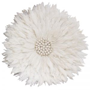 Feather Wall Hanging | White | by Raw Decor