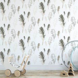 Feathered Friends - Nature's Child | Eco Wallpaper | Neutral | Amba Florette