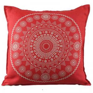Feliz Cushion   Red