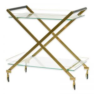 Felton Brushed Gold Bar Cart