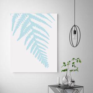 Fern Blue | Canvas Art by Beach Lane