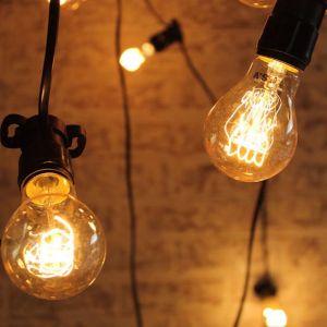Festoon Lighting | Outdoor String Lights | 10 Metres with 10 Edison Light Globes Quad Loop