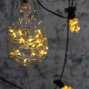 Festoon Lighting | Outdoor String Lights | 10 Metres with LED Starry Teardrop