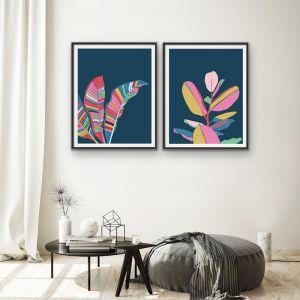 Fiddle Leaf Fig and Banana Palm | Two Piece Print Set