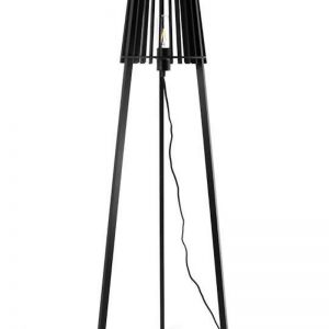 Fidel Timber Floor Lamp | Black | Modern Furniture
