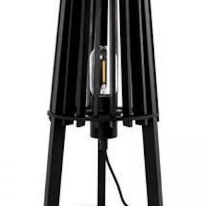Fidel Timber Table Lamp | Black | Modern Furniture