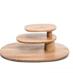 Field  | 3 Tier Serving Tray | Oak