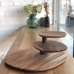 Field | 3 Tier Serving Tray | Walnut