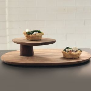 Field by Helen Kontouris | 2 Tier Serving Tray | Oak