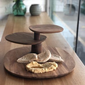 Field by Helen Kontouris | 3 Tier Serving Tray | Walnut