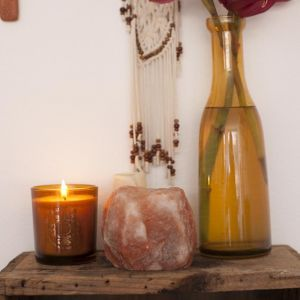 Field Peony Soy Candle | Amber Pot