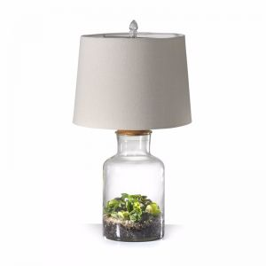 Fillable Jar Lamp With Oatmeal Shade | 2 Size Options | by Black Mango