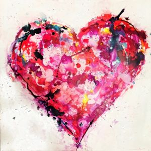 Filled with Love | Original Artworks on Canvas. SOLD. Please Inquire.