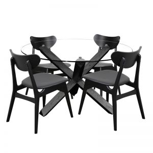Fin Dining Chair | Black Frame | Bohemio Furniture