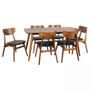 Fin Dining Chair | Teak Stain Frame | Bohemio Furniture