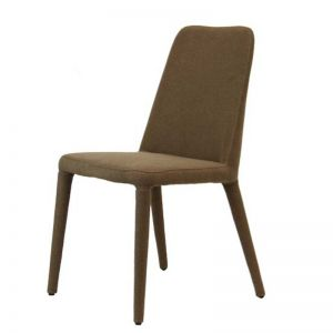 Finleigh Upholstered Dining Chair | Tobacco colored Fabric by SATARA