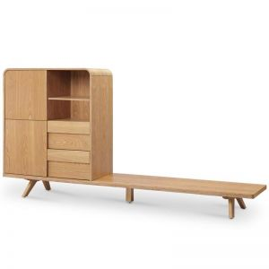 FINLEY TV Entertainment Wall Unit 1.8M - Natural