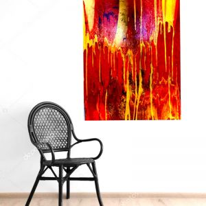 Fire and Gold   Painted Canvas