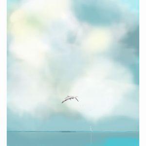 Fish Jumping | Illustrated Art Print