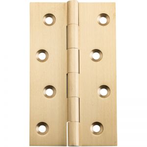 Fixed Pin Hinge 10x6cm, Satin Brass | Schots